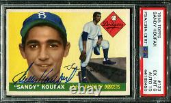 1955 Topps #123 Sandy Koufax PSA/DNA 6/10 Auto RC HOF Rookie Signed Dodgers