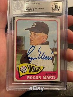 1965 Topps Roger Maris #155 HOF Auto Signed Yankees Autograph