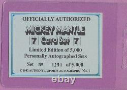 1982 ASA Mickey Mantle #1 HOF Yankees Signed NM-MT with HIGH GRADE AUTO /5000