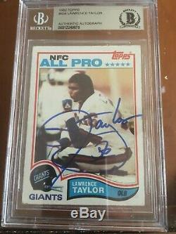 1982 Topps Lawrence Taylor 56 Hof'99 Rookie Card #434 Auto Autograph Signed Bas