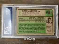 1984 Topps #123 Dan Marino HOF RC Rookie Dolphins Signed AUTO PSA/DNA AUTHENTIC