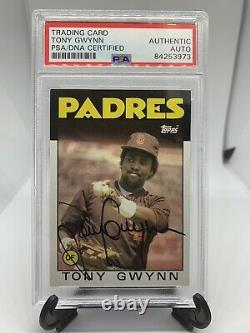 1986 Topps Tony Gwynn Signed Card PSA/DNA Certified Autograph Rare Auto HOF