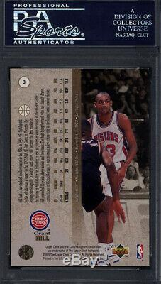 1994 SP #3 Grant Hill Rookie HOF Signed Auto Autographed Card Pistons PSA/DNA