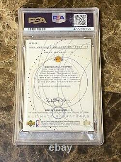 2002-03 Upper Deck Ultimate Collection Kobe Bryant HOF Signed AUTO Lakers PSA 8