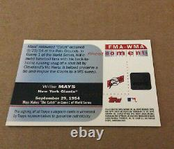 2003 Topps Finest Moments Giants Willie Mays Auto World Series The Catch HOF
