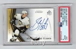 2005-06 Sp Authentic Sign Of The Times Rookie Rc Auto Sidney Crosby Psa 9 Hof