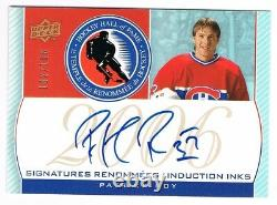 2008-09 Montreal Canadiens Centennial Hall of Fame INKS Auto Patrick Roy /106
