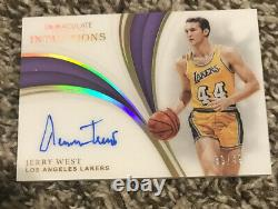 2018-19 Immaculate Inductions Jerry West HOF Signed AUTO 39/49 SSP