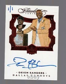 2018 Panini Honors Recollection Flawless Deion Sanders Hall of Fame Auto #1/1