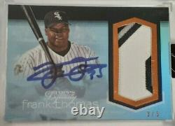 2018 Topps Dynasty Frank Thomas 3 Color Patch Auto 3/5 HOF AP-FT3 Dynastic Deed