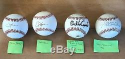 21 AUTOGRAPHED AUTO SIGNED BASEBALLS HOF Conseco Henderson Stewart Rose Snider +