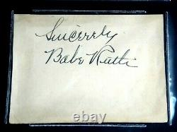 Babe Ruth Signed Autograph Beckett (bas) Certified Authentic Auto Hof Ny Yankees