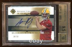 Bgs 9.5 10 Auto Aaron Rodgers 2005 Ultimate Rc Auto /99 Rare Packers Qb Hof