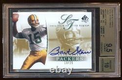 Bgs 9.5 10 Bart Starr 2003 Spa Gold Auto /25 Sign Of The Times Amazing Hof Qb