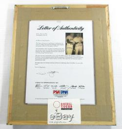 Bill Terry and Joe DiMaggio Signed 13x16 Framed Photo Hall of Fame 2 PSA Autos