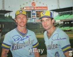 Brewers ROBIN YOUNT & PAUL MOLITOR Dual Signed 16x20 AUTO Photo #3 AUTO HOF
