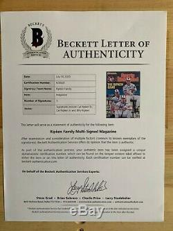 Cal Ripken Jr Autographed Signed Sports Illustrated Certified Auto BAS HOF