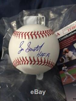 Cardinals LEE SMITH Signed Official MLB Baseball AUTO with HOF 2019 Cubs JSA