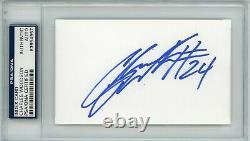 Charles Woodson Rookie Year Raiders HOF PSA/DNA Signed Auto Autograph