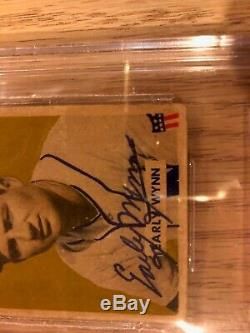 Early Wynn autographed 1949 Bowman ROOKIE RC #110 auto BGS Beckett signed HOF