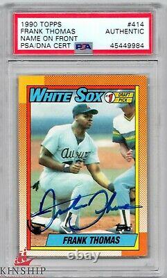 Frank Thomas signed 1990 Topps Rookie Card PSA DNA Slabbed Vintage Auto HOF C470