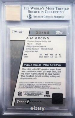 Jim Brown Signed 2006 Topps Paradigm Gold Football Cardfootball Hof Automint 9