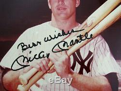 Mickey Mantle Best Wishes 1961 Wsc Yankees Hof Signed Auto 8x10 Color Photo Jsa
