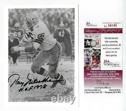 PACKERS Ray Nitschke signed 5x7 photo with HOF 1978 JSA COA AUTO Autographed