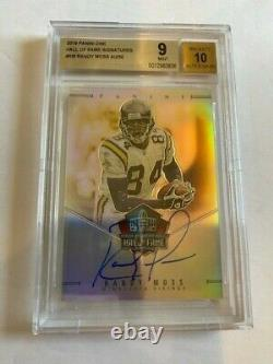 RANDY MOSS Autograph 2019 Panini ONE Hall of Fame AUTO BGS Graded 9, #'d 40/50