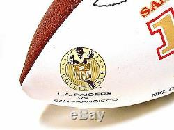 RARE Jerry Rice 49ers HOF Auto Signed Autographed 127TD Stat Football Ball COA