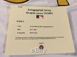 ROLLIE FINGERS San Diego Padres Signed THROWBACK Jersey MLB Authentic HOF AUTO