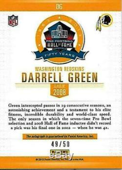 Rare Darrell Green Signed Panini Spectra Hall Of Fame Cardfootball Hof Auto #49