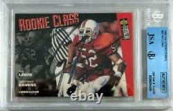 Ray Lewis Rc 1996 Upper Deck Collectors Choice Signed Autograph Hof Jsa Bgs Auto