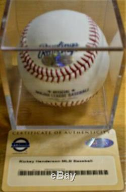 Rickey Henderson AUTO MLB Baseball Steiner HOF A's Yankees Red Sox Autographed