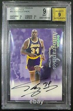 Shaquille O'Neal 1999-00 Skybox Premium Signature OnCard Auto BGS 9 Hall Of Fame