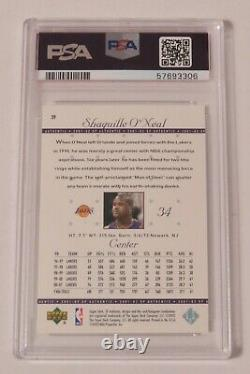 Shaquille O'Neal HOF Signed Autograph Auto 2001 Upper Deck SP Auth Card 39 PSA