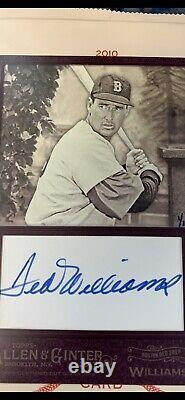 TED WILLIAMS 1/1 AUTO Box Topper 2017 Allen & Ginter HOF RED SOX