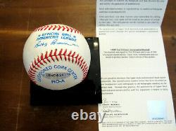 Ted Williams. 406 Boston Red Sox Hof Signed Auto Vintage Oal Baseball Uda Box