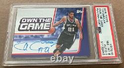 Tim Duncan Auto Topps Own The Game 2006 Signed PSA HOF San Antonio Spurs