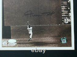 Willie Mays 1954 Ws The Catch Giants Hof Signed Auto Framed Sepia Photo Steiner