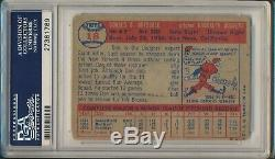 1957 Topps Don Drysdale Hof Signe Rc # 18 Psa / Dna 1 Rookie Auto 9 789