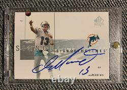 2001 Sp Authentic Sign Of The Times Dan Marino Auto On Card Miami Dolphins Hof