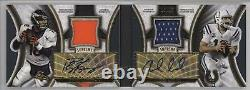 2015 Topps Supreme Book /15 Andrew Luck Peyton Manning Dual Patch Auto Hof