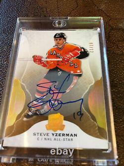 2017-18 Ud The Cup Steve Yzerman Gold Spectrum Auto Signed /12 Hof Red Wings