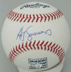 Brewers Ted Simmons Signed Official Mlb Hof Logo Baseball Auto Cardinals Jsa