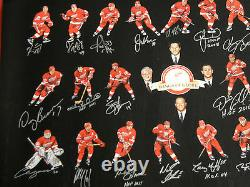 Detroit Red Wings Signed 24x36 Lithographie 22 Autos Hof Yzerman Lidstrom Shanahan