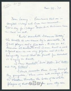 Johnny Sang Mcnally Autographié Lettre Pro Football Hof Autosigné GB Packers