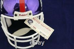 Lawrence Taylor Autosigné Ny Giants Le Sb Chrome Mini Casque Withhof 99 Jsa Wpp