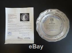 Mickey Mantle Papa Cool De Bell Ford Conlan Quad Signé Auto Plate Hof Commerative