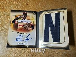 Nolan Ryan Autographed Letter Patch Book Auto 2020 Topps Luminaires 1/1 Hof 1of1